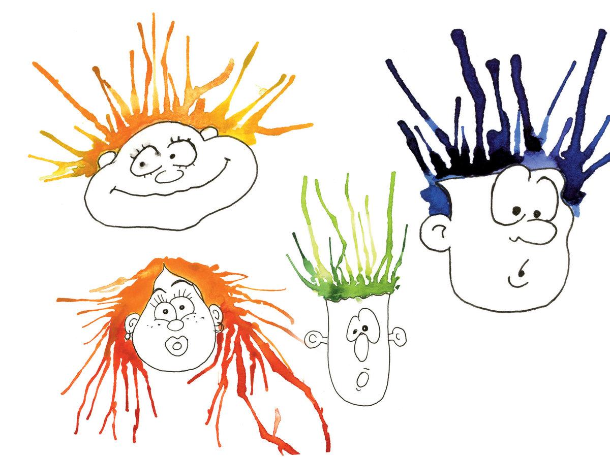 волосы смешной рисунок этом разделе