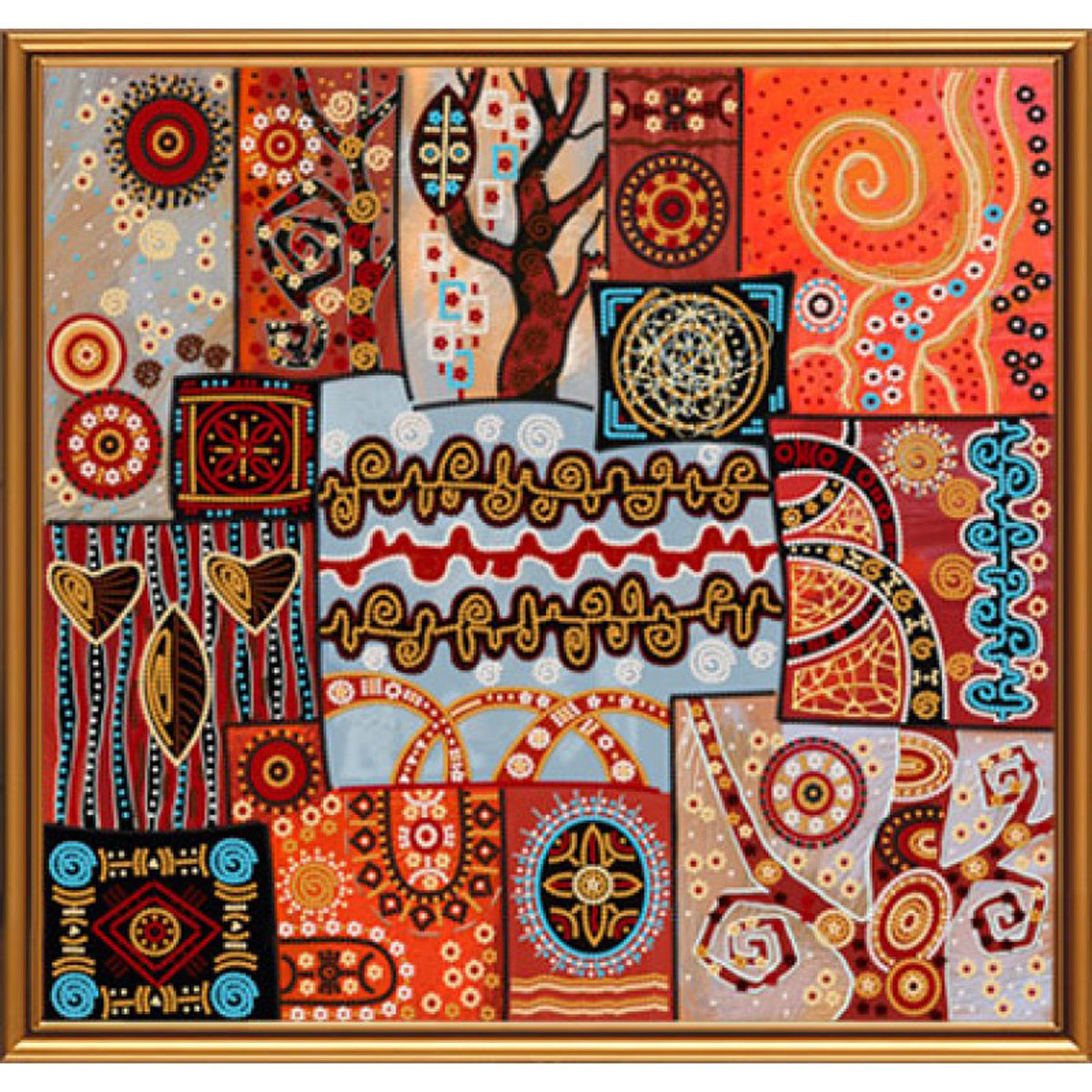 Надписью, открытка этно