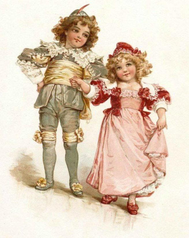Открытка, зарубежные открытки с детьми