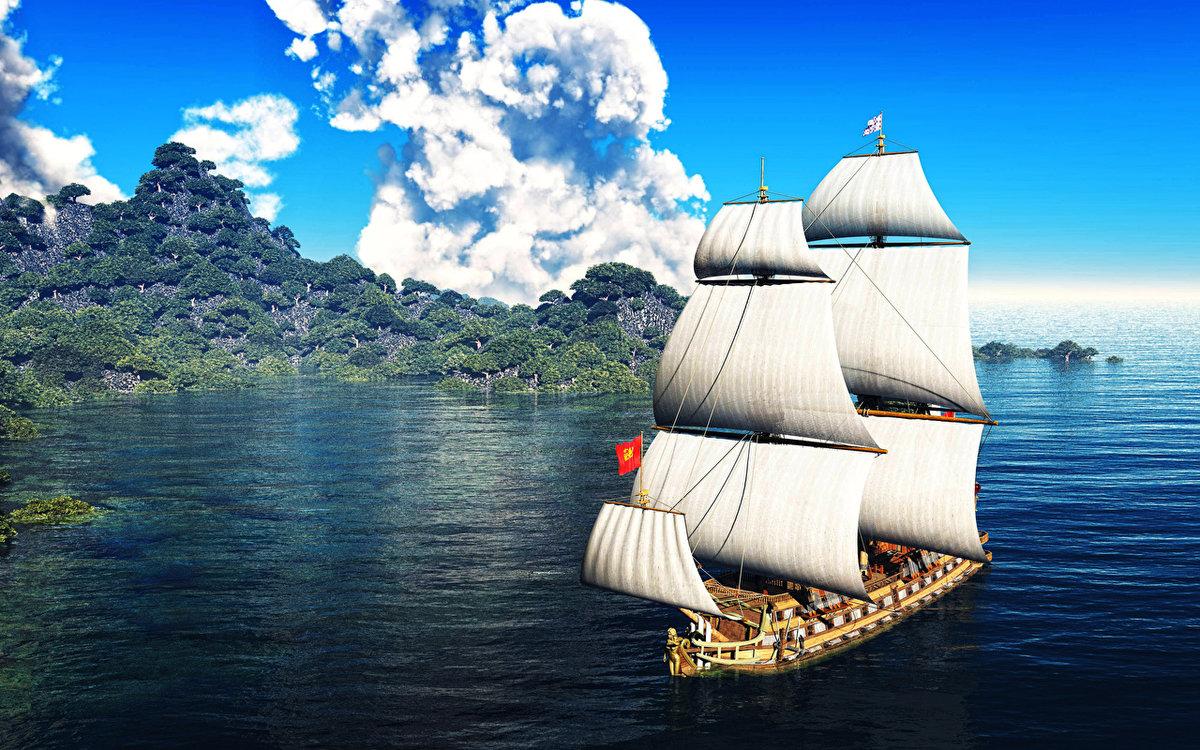 корабль в природе картинка фотографии