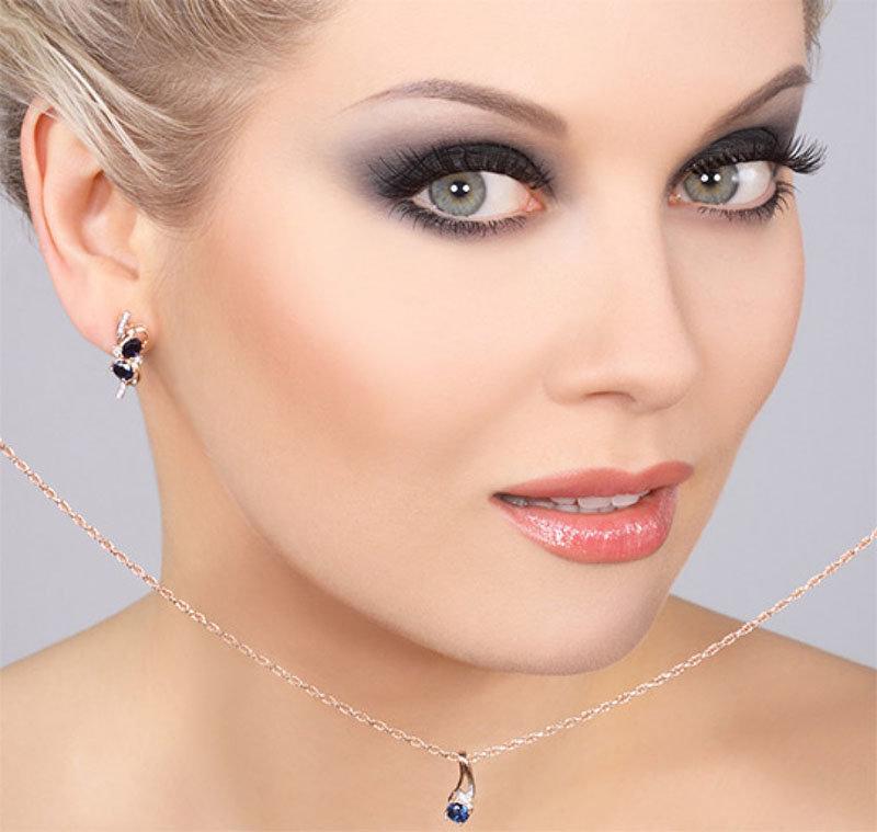 вечерний макияж для серых глаз с картинками