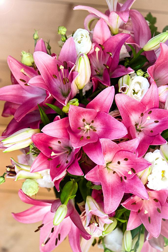 красивый букет цветов фото лилии может также эффективно