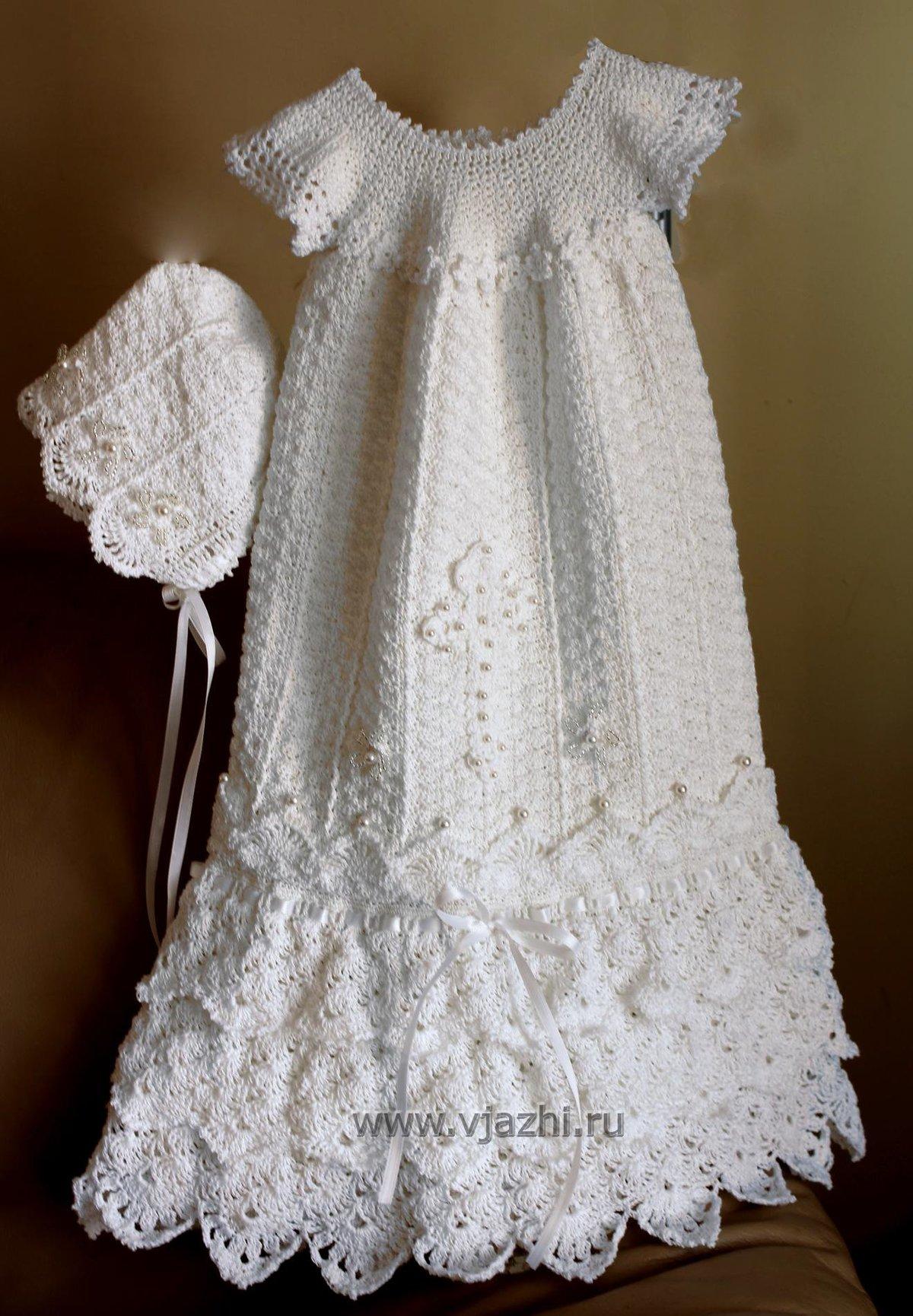 Вязание крючком платья малышке