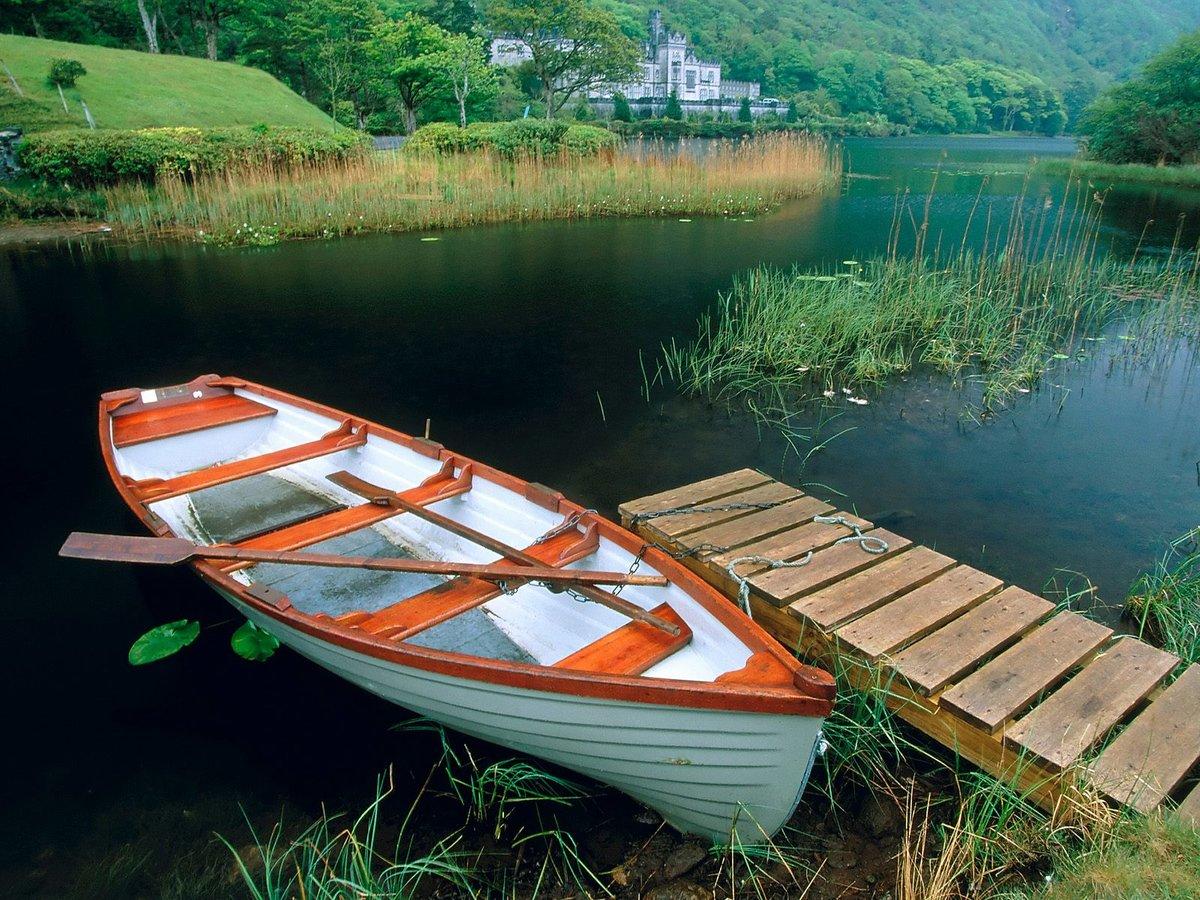 Лодки на речке картинки