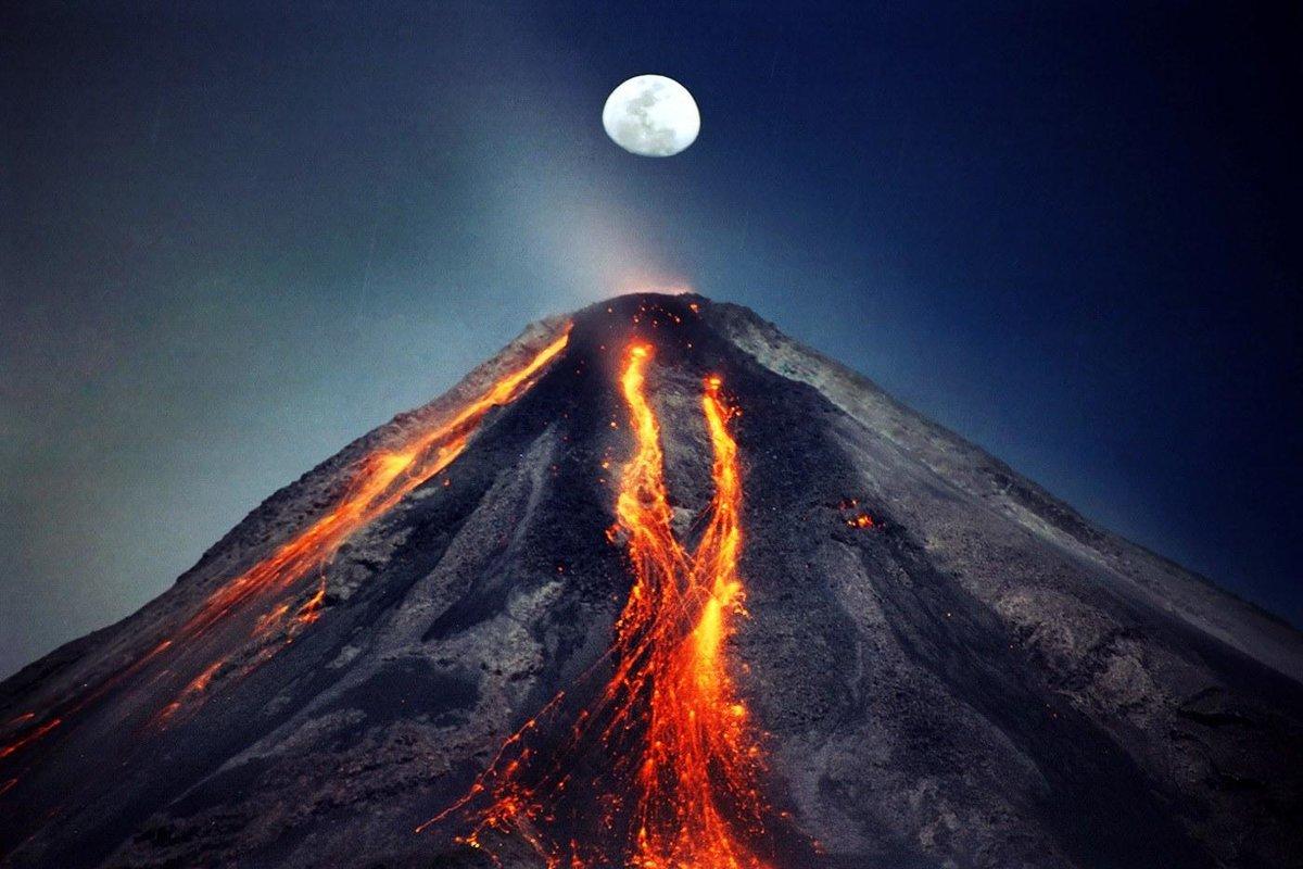 реальный вулкан