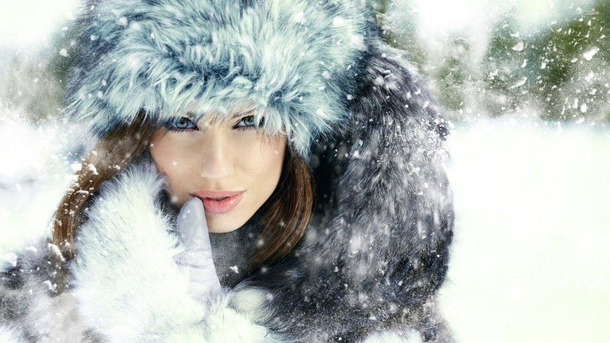 Картинки женщина зима с надписями