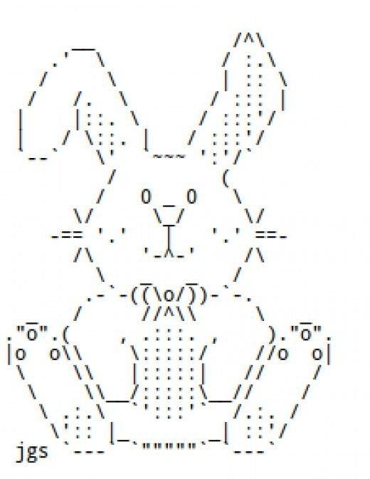 Картинки с помощью символов клавиатуры простые