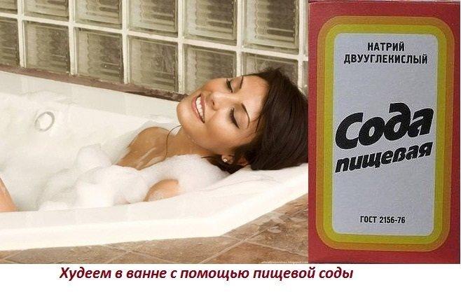 Ванны похудения содой