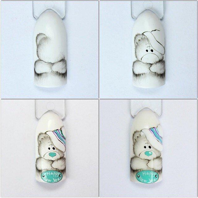картинки мишек тедди на ногтях может