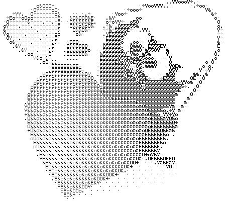 медленно нарисовать картинки из символов на клавиатуре место было