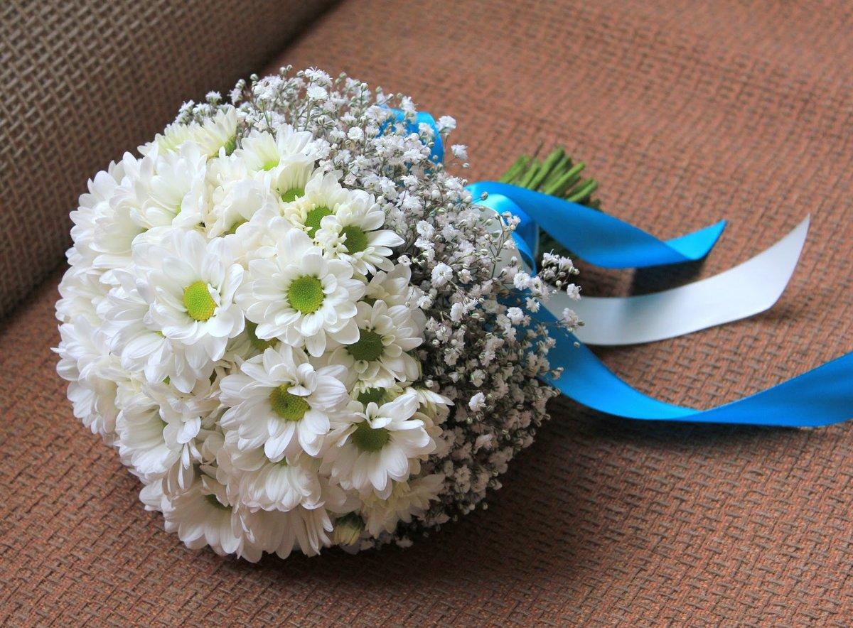 Кустовая хризантема свадебный букет, доставкой армении