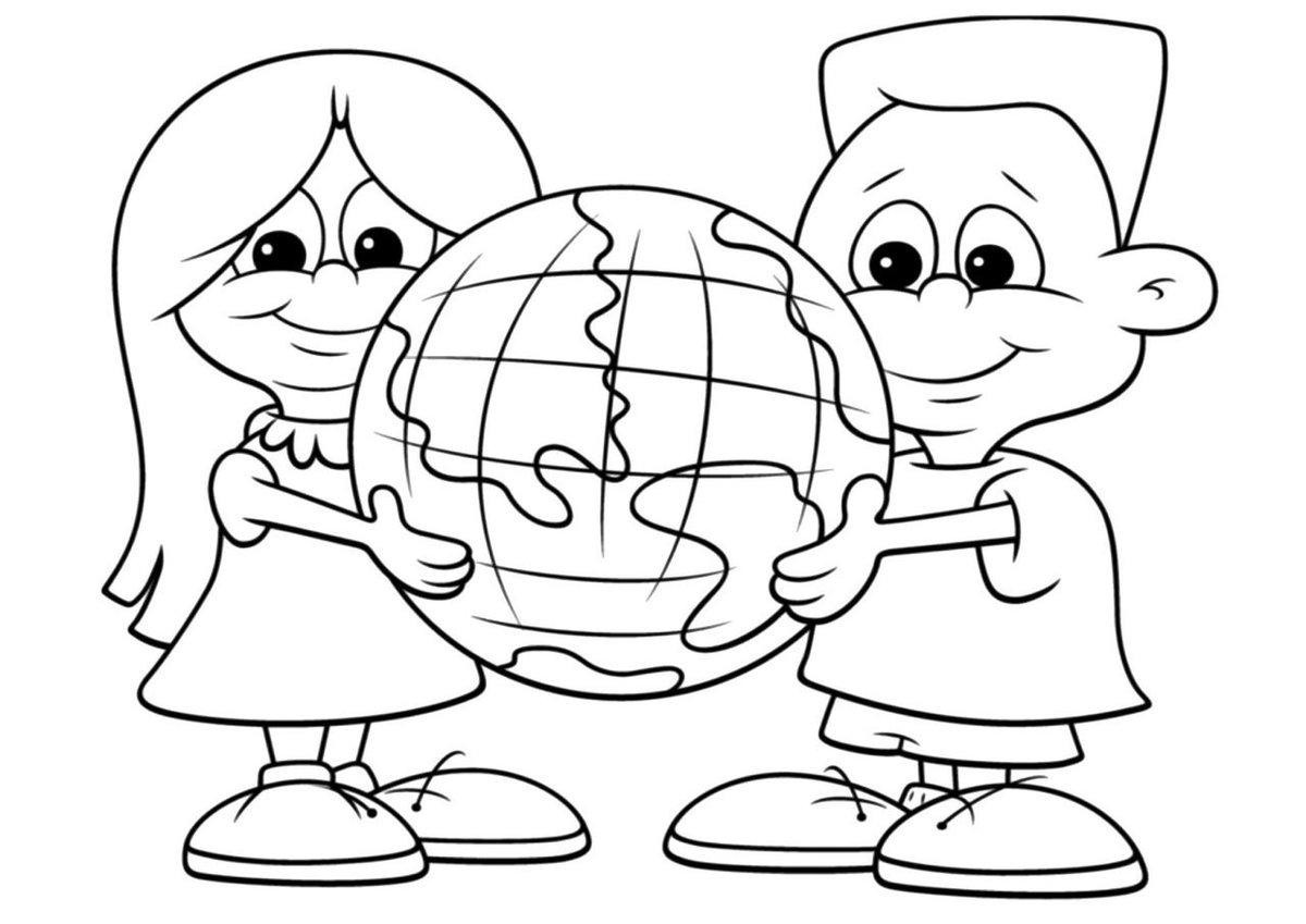разделил раскраска на тему мы за мир на планете настоящее время