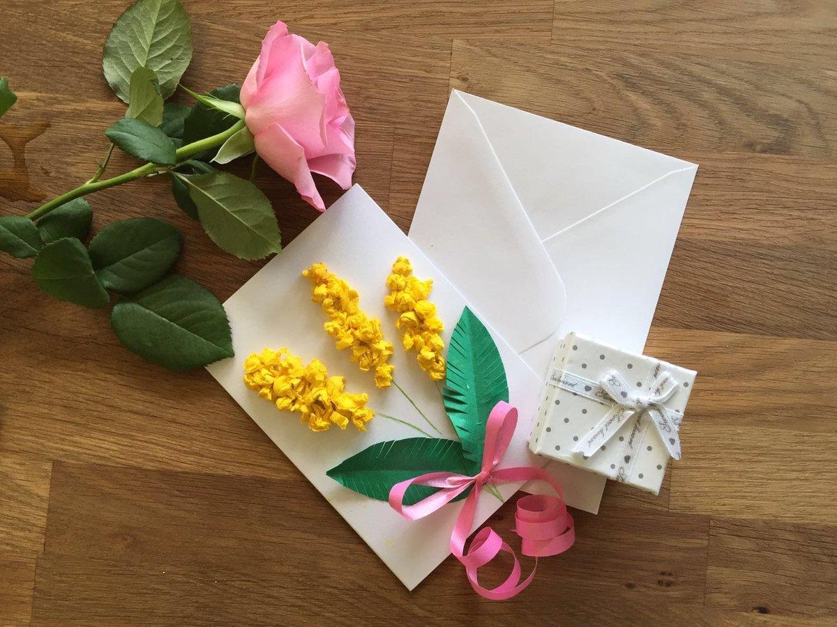 Для 8 марта открытки своими руками
