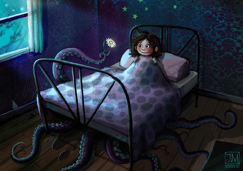 Страшная картинка на ночь для детей