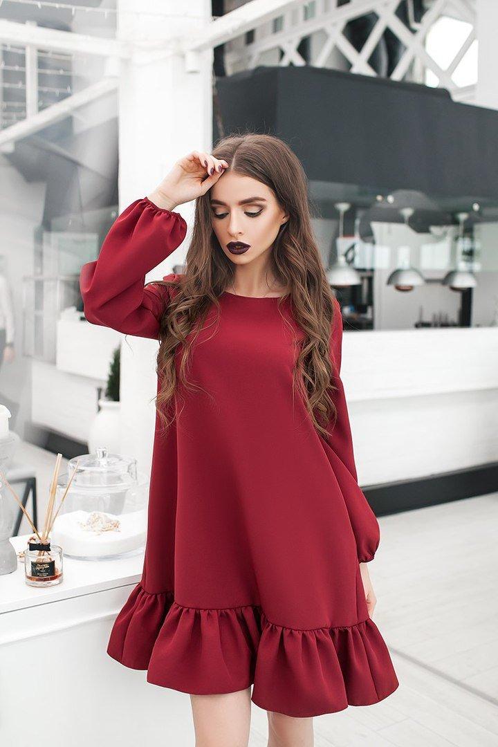 Фото мода длинные платья с оборкой