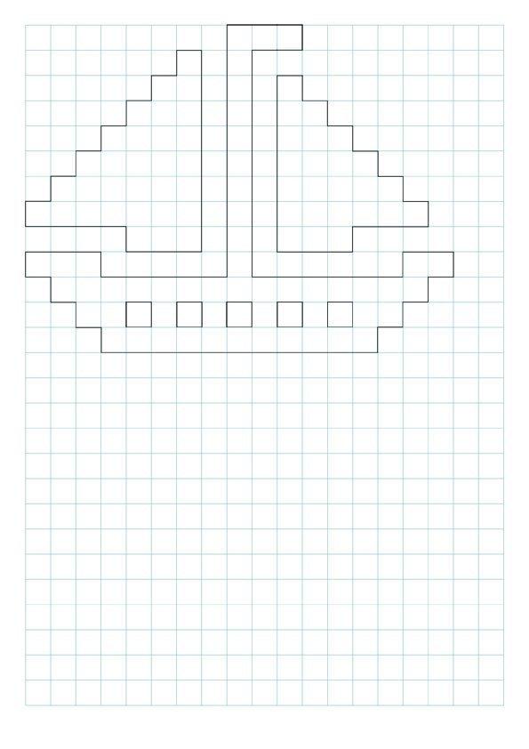 схема по клеточкам картинки в тетради легкие памятник дворнику самые