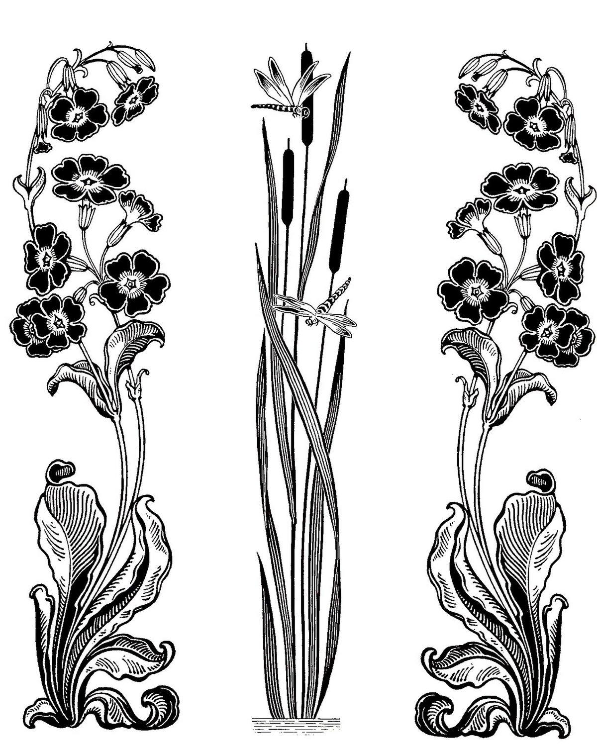 цветы в стиле модерн картинки ножки