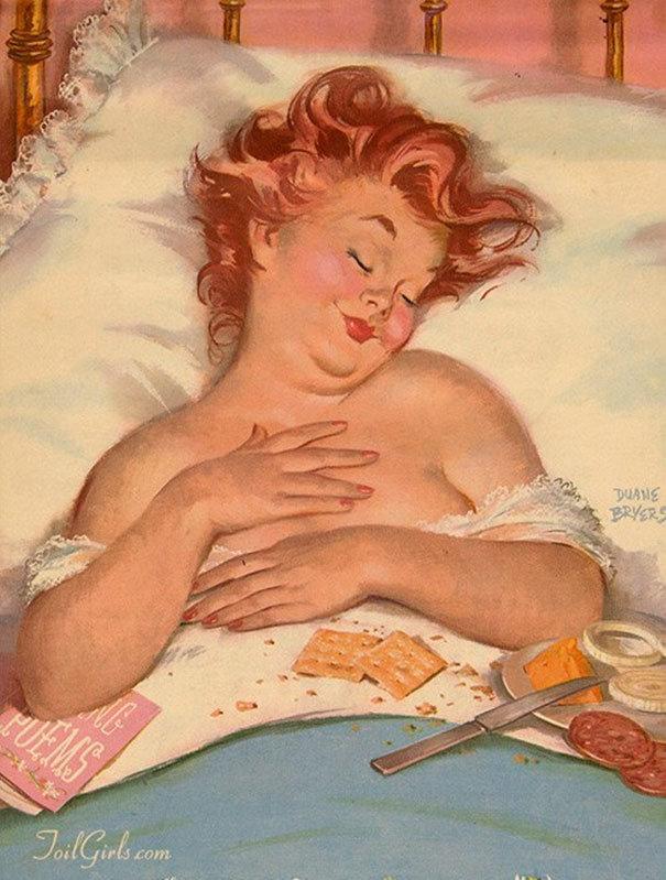 Картинка пожеланием, смешная толстушка рисунок