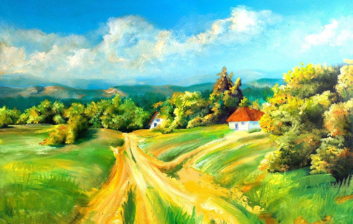 Открыток, картинка с днем деревни