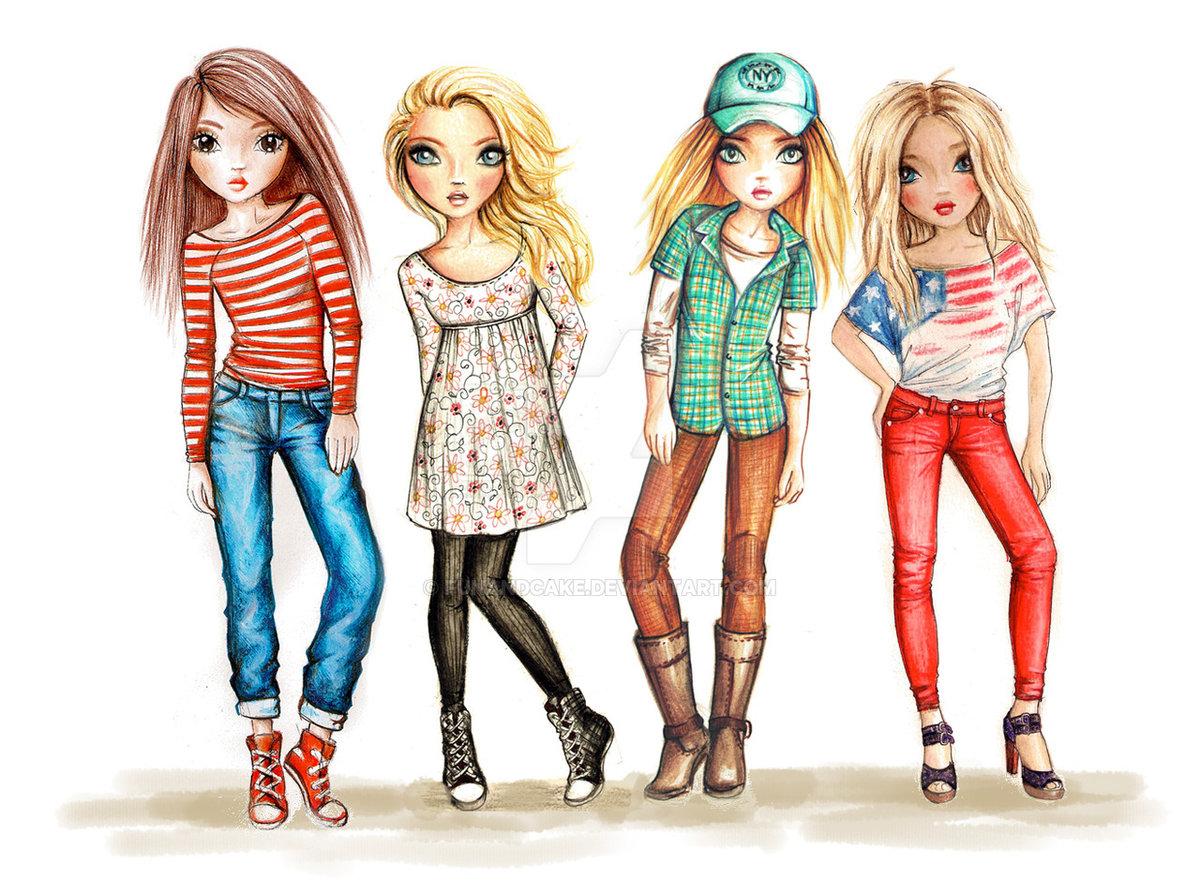 Разные прикольные рисунки для девочек