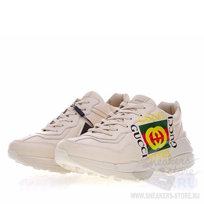 d3cb14a1fe51 Кроссовки Rhyton Gucci logo leather sneaker в Судже. Кроссовки уже в продаже  Официальный сайт http