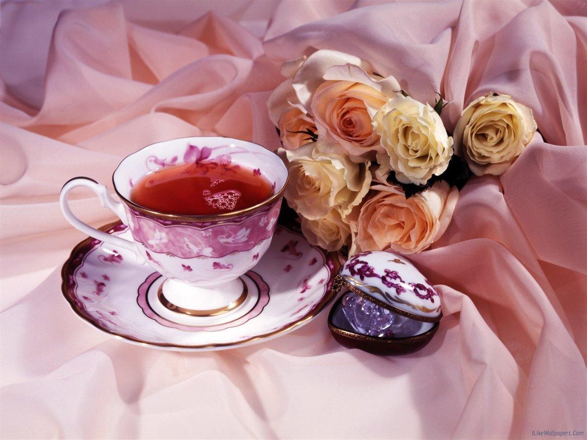 С добрым утром любимая букет роз, гвоздик