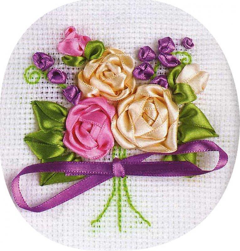 Открытка своими руками с розами из лент, открытки поздравления люблю