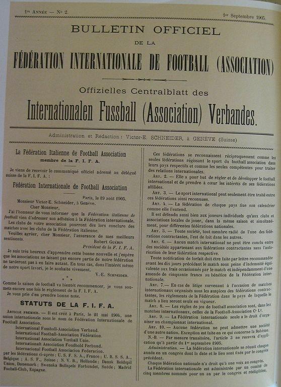21 мая 1904 г. В Париже основана Международная федерация футбольных ассоциаций – ФИФА
