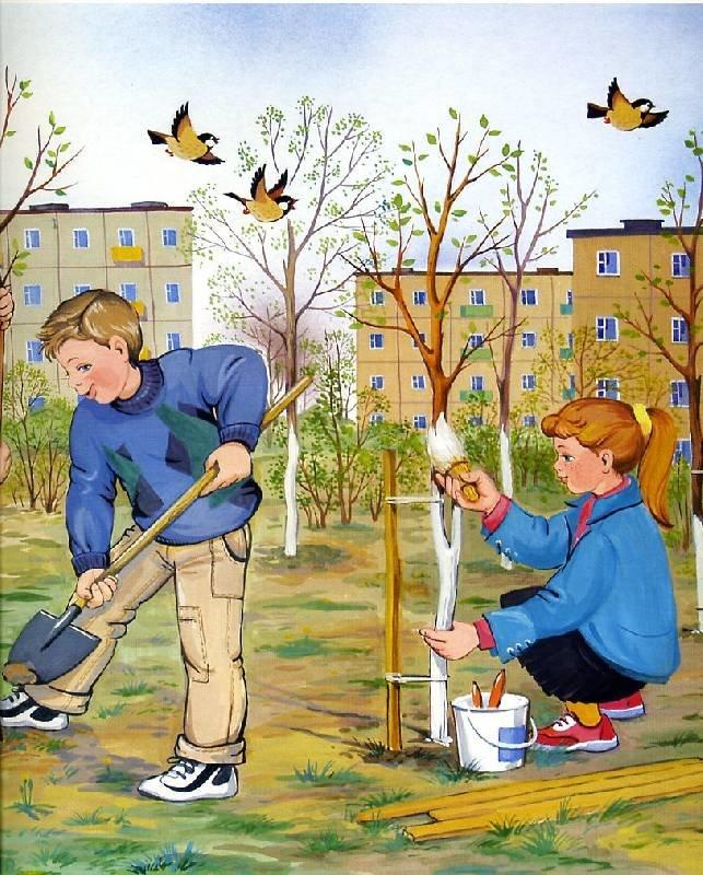 Картинка весна дошкольников