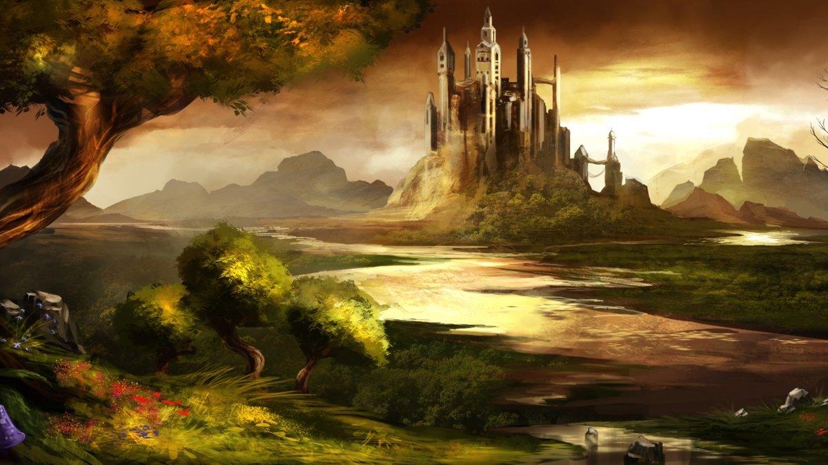 Картинки дорога в замок фантастика