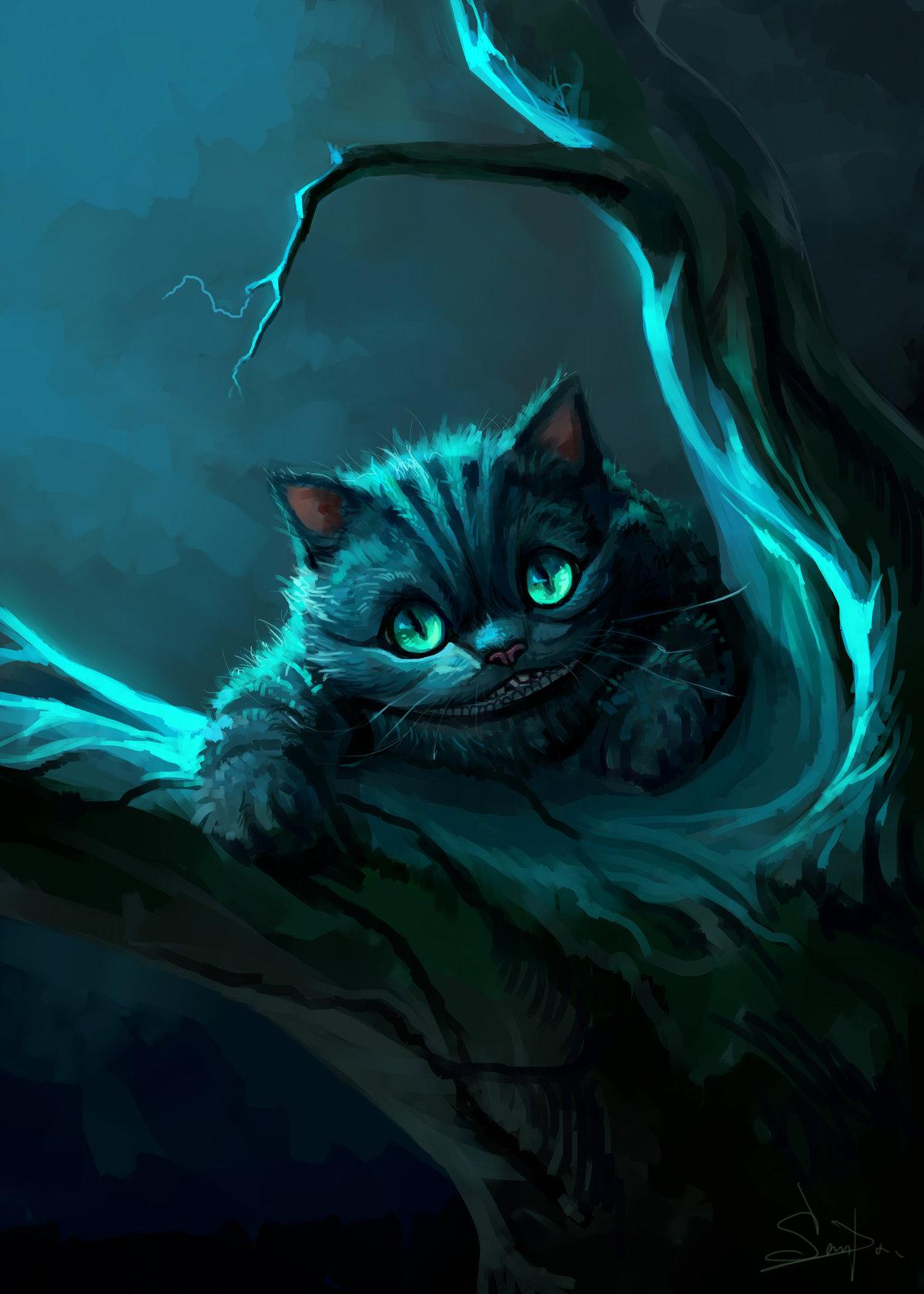чеширский кот картинка вертикальная пластиковые накладки для