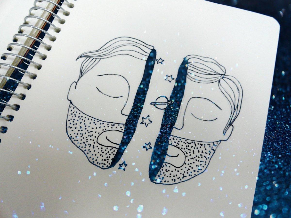 Прикольные рисунки в артбук, хэнд мэйд