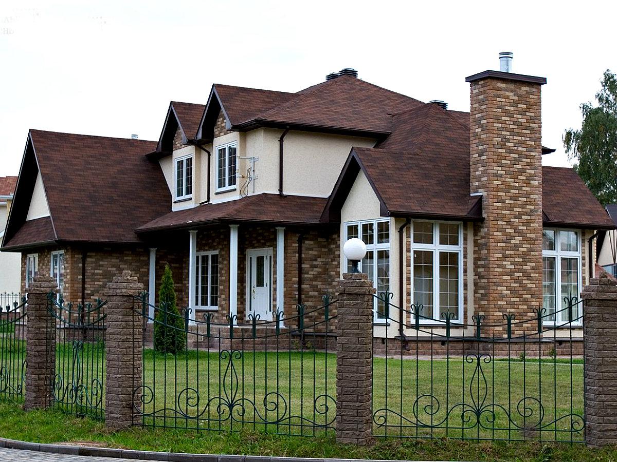 отделка дома фасадным кирпичом
