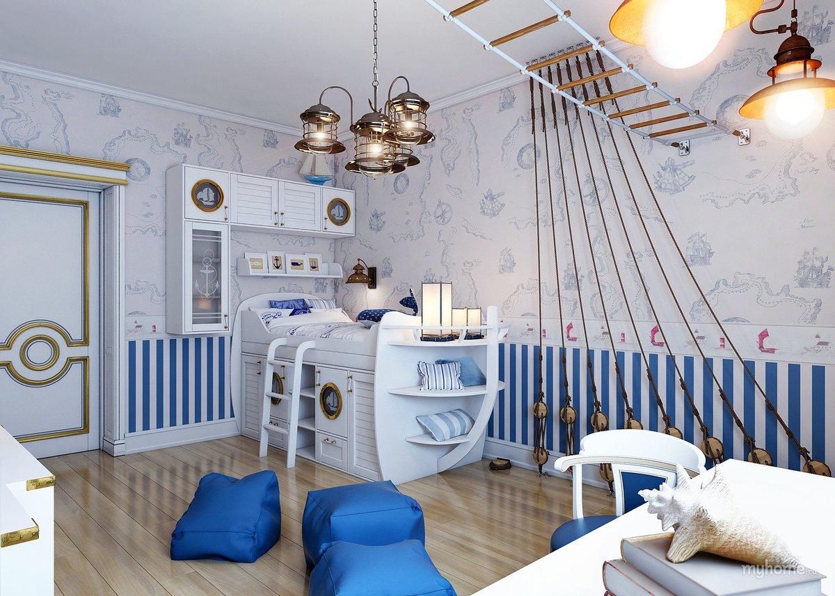 Картинки комнат в морском стиле википедии есть