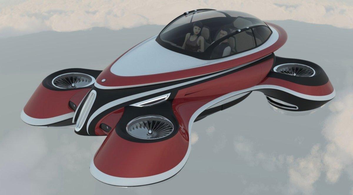 Будущее картинки летающие машины
