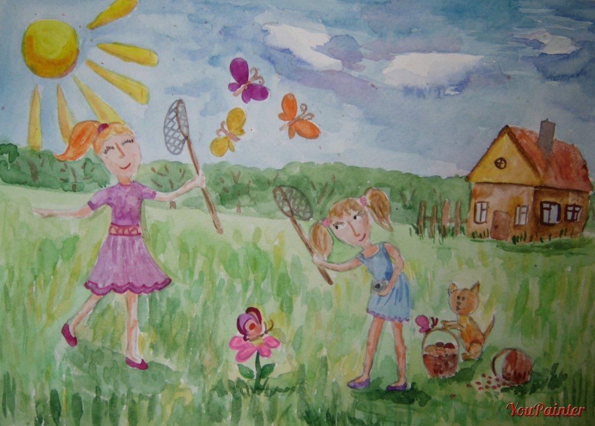 Рисунок детские картинка лето