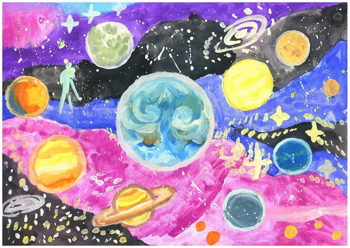 стали картинки про космос нарисовать вообще принципа
