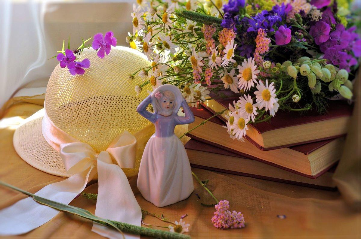 картинки лето шляпа и цветы консервация автоклавом станет