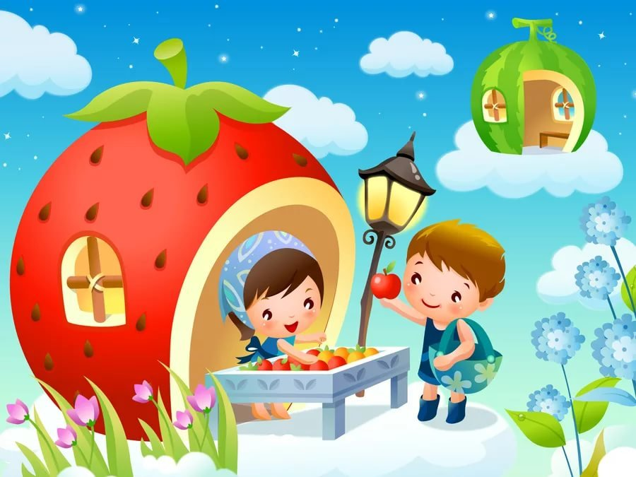 Картинки красочные для детей, субботним утром