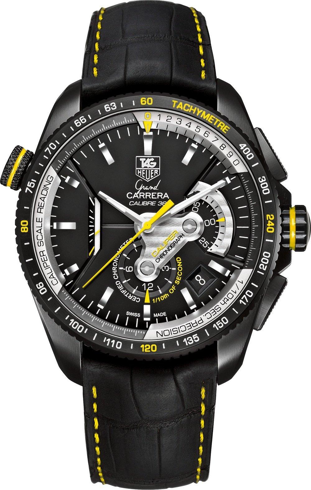 Кнопки управления хронографом имеют приятную, обтекаемую форму, которая сливается с дизайном часов, образуя цельную художественную композицию.