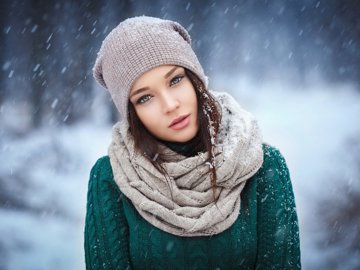 женский зимний фотопортрет украинские сми вот