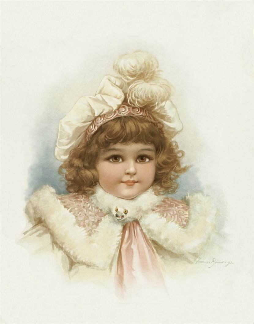 Девочка на старинной открытке, картинки поздравлениями