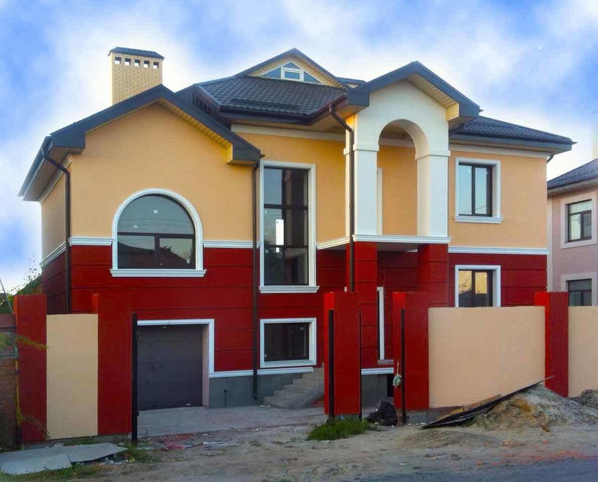 декоративная покраска фасада дома
