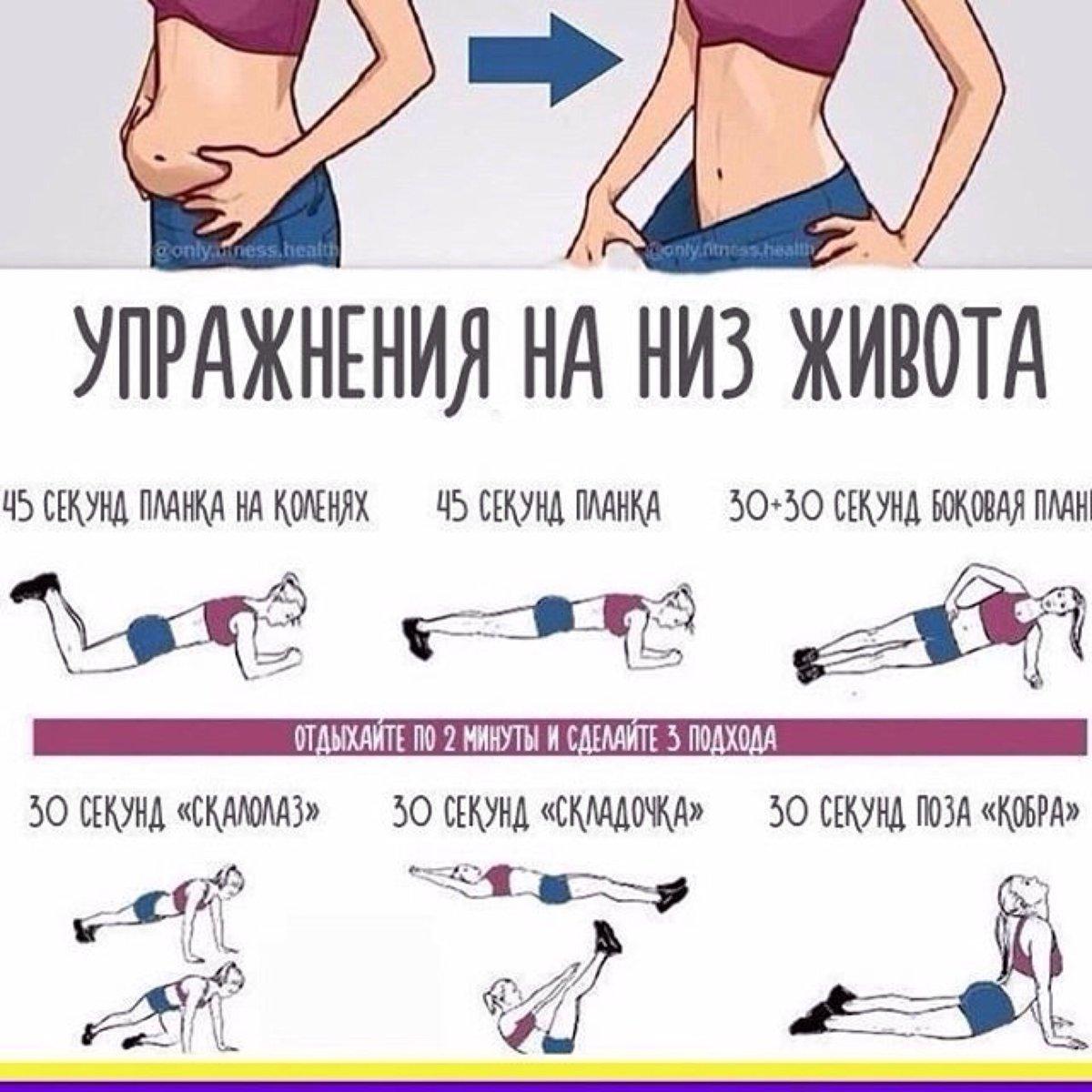 хорошо упражнение в картинках убрать жир и бока в домашних условиях каждой карточке