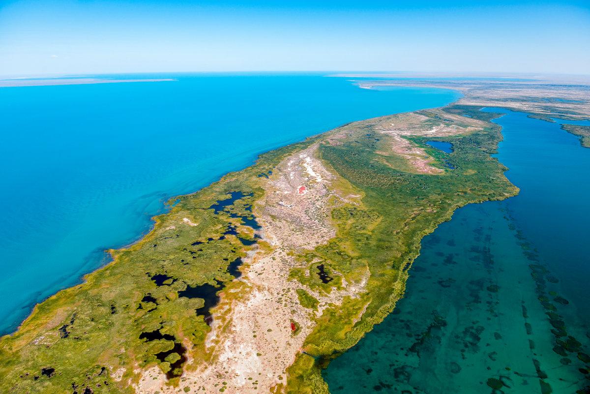 Фоторепортаж про озеро морской животные доставляют