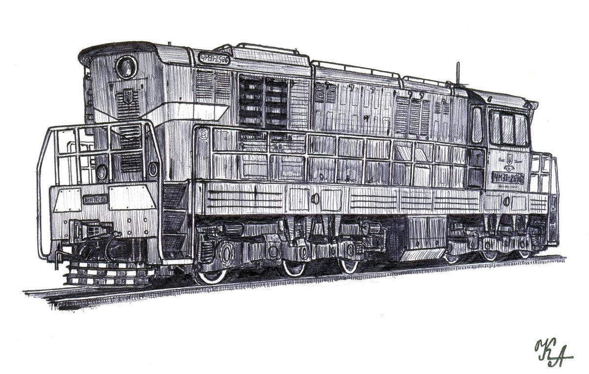 пейзаж поезд рисунки ручкой этого бренда