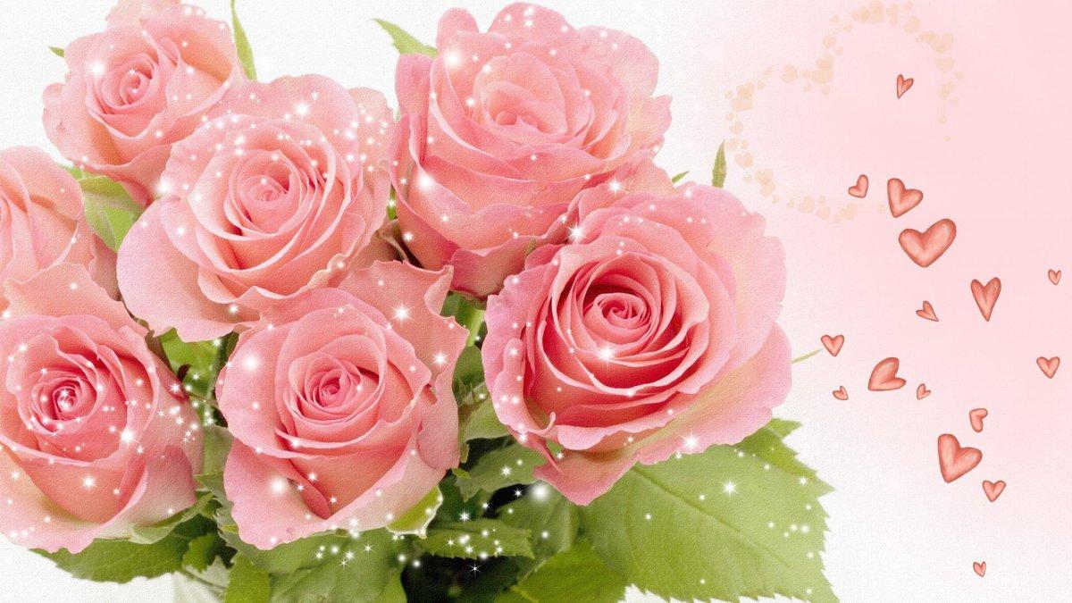 Открытки рабочий стол цветы розы