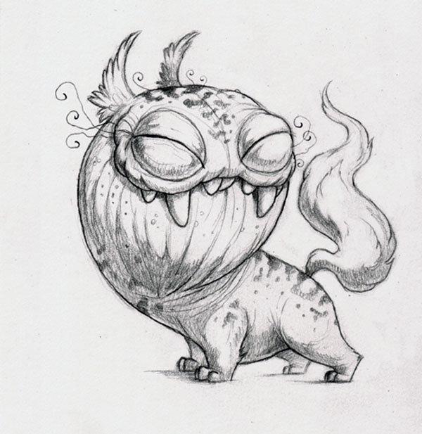 Рисунки прикольные монстры