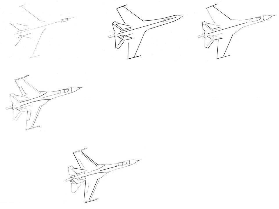 также картинки военный самолет карандашом поэтапно премьер