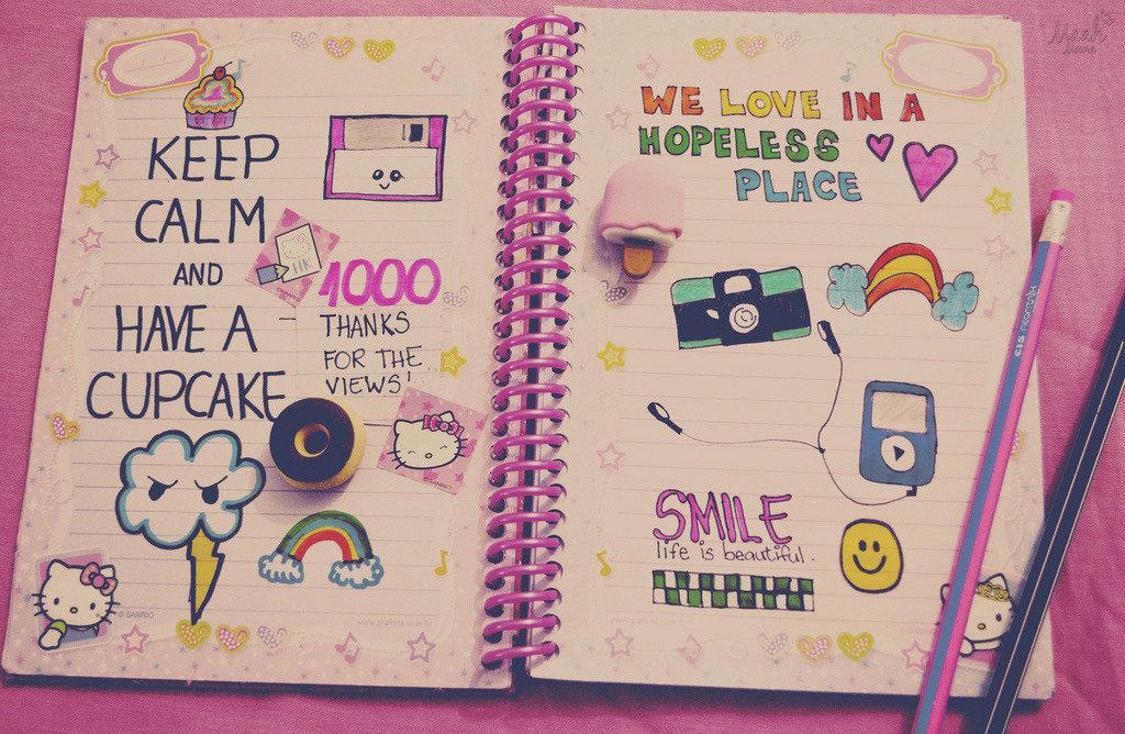 Прикольные рисунки для своего дневника личного дневника, зайчика открытки